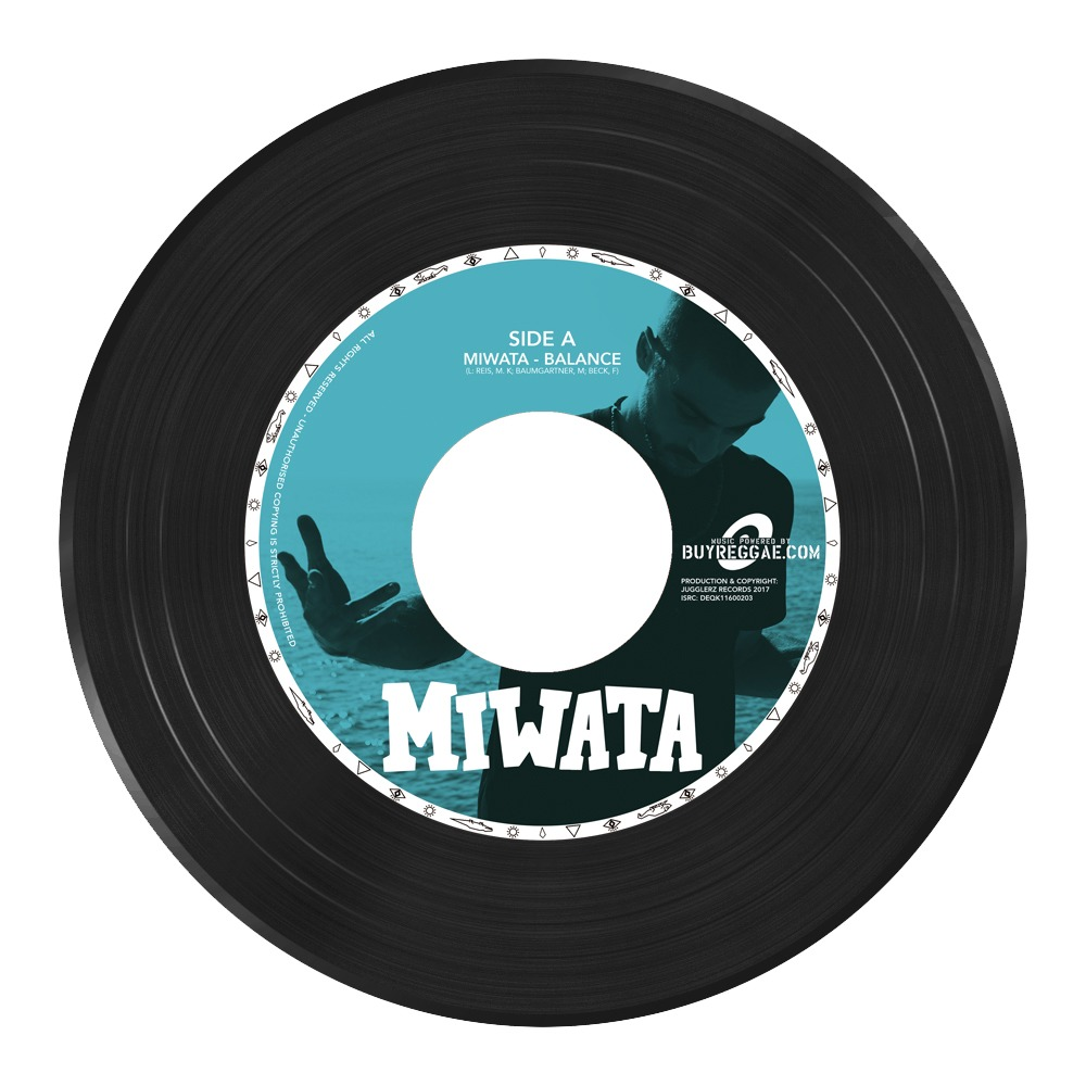 """Die Single """"Balance"""" von Miwata als 7 Inch Vinyl"""
